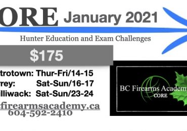 CORE Hunter education courses with bc firearms academy – january 2021