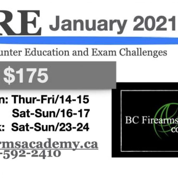 CORE Hunter education courses – january 2021