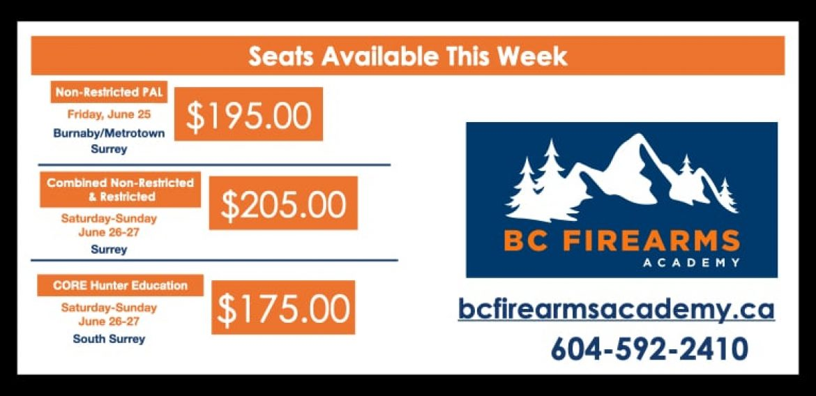 Seats Available This Week!