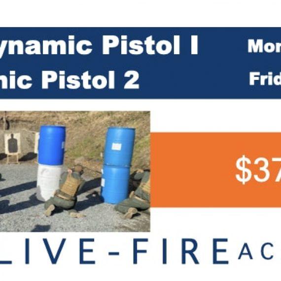 Live-Fire Pistol Courses: Summer 2021
