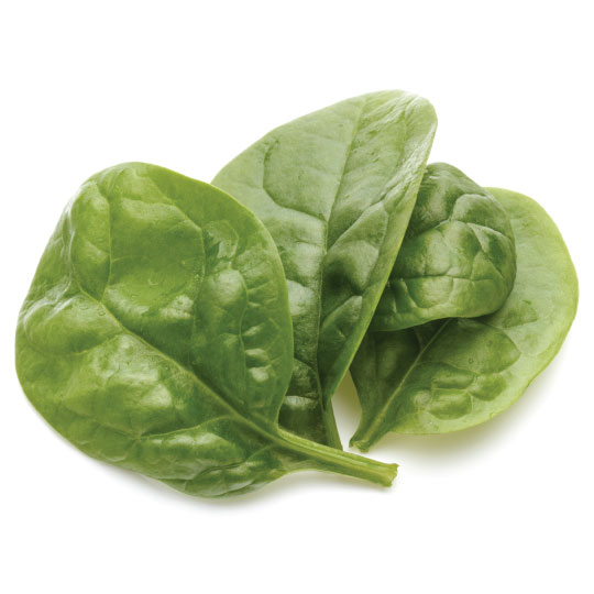 Spinach for dehydration