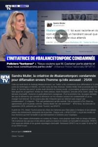 2019 - Vidéo - Marie Burguburu - L'initiatrice de #Balancetonporc condamnée - BFM TV