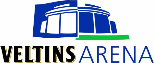 Logo der Veltins Arena auf Schalke
