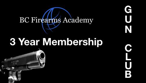 BCFA Gun Club Number of Years 3
