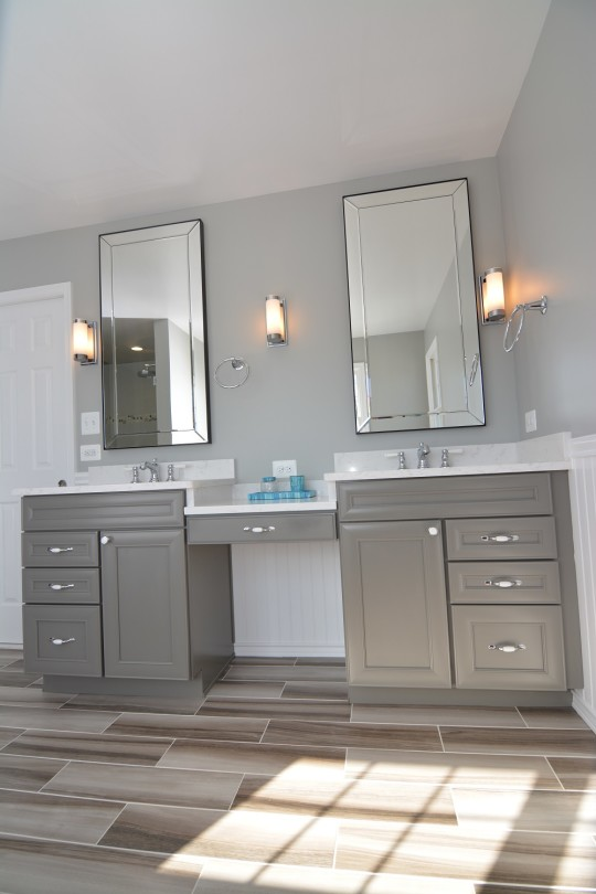B CHIC INTERIORS  Modern Cottage Master Bathroom in