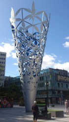 The Millennium Chalice in Cathedral Square.