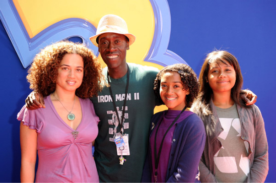 DON CHEADLE AND FAMILY AT TOY STORY 3 PREMIERE