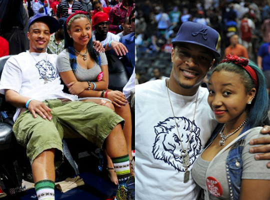 TI AND ZONNIQUE AT THE BASKETBALL GAME