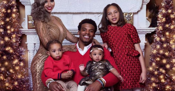 CAM NEWTON AND THE FAMILY POSE IN NEW HOLIDAY PICS