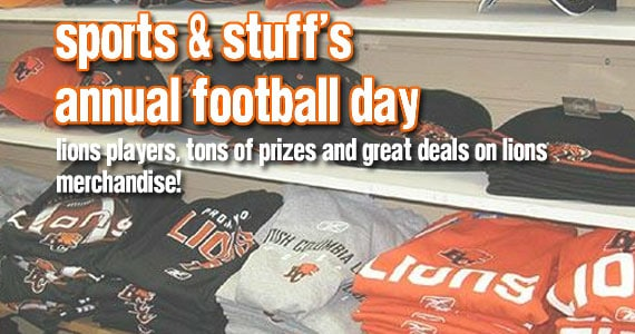 Sports & Stuff's annual Football Day event is a must for BC Lions fans!