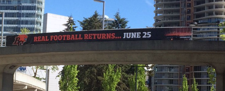 """Real Football"" Banner Gets Social Media Talking BC Lions"
