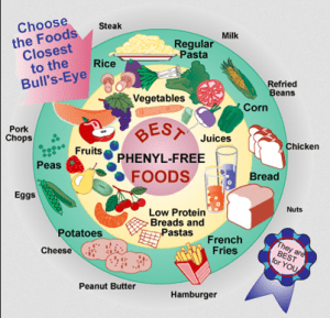 Phenylalanine-free diet suggested foods