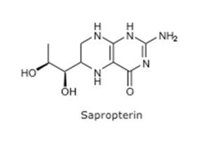 Sapropterin is used a pharmocological chaperone which is a synthetic derivative of tetrahydrobiopterin.