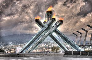 The Olympic Cauldron as shot through the origi...