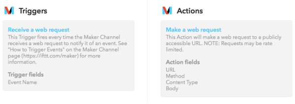 IFTTT's new API - the Maker Channel