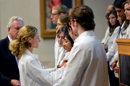 Medical student gets pinned
