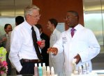 Dr. Don Donovan and Dr. Anthony Brissett talk at the grand opening
