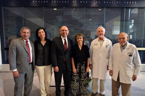 Dr. Paul Klotman with Baylor NAS members (from left to right) Drs. Huda Zoghbi, Martin Matzuk, Dora Angelaki, Bert O'Malley and Salih Wakil