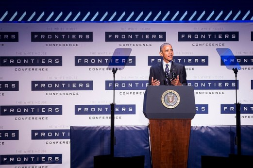 President Obama at the White House Frontiers Conference.