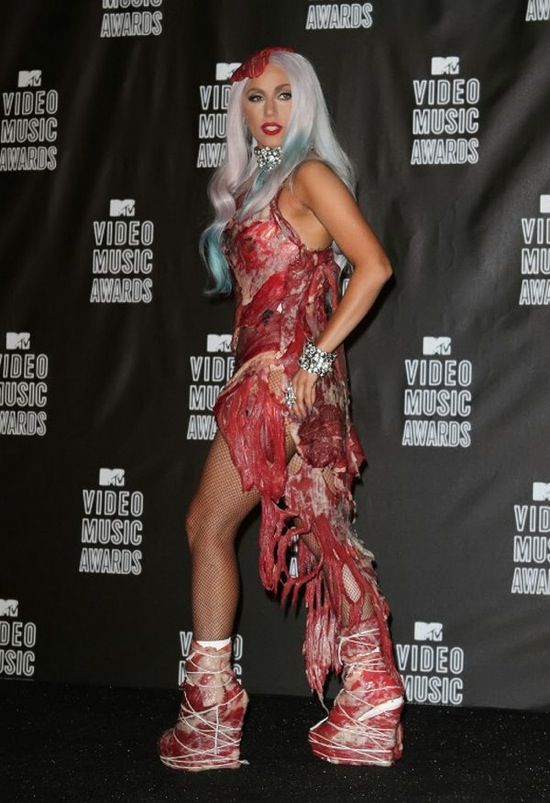 Lady Gaga in Franc Fernández MTV Video Music Awards 2010