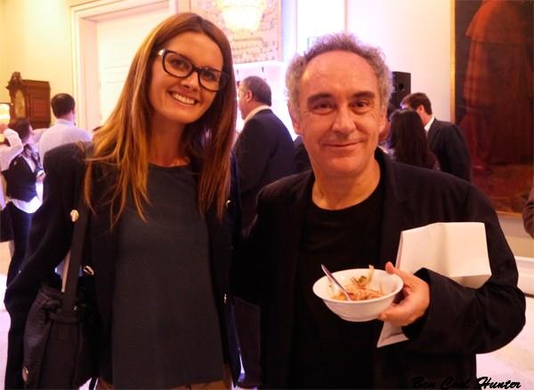 con Ferran Adrià en el Cebiche & Pisco Party de Barcelona