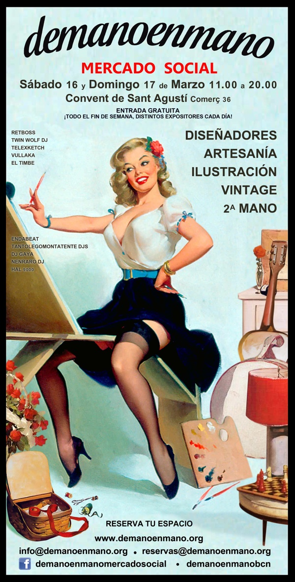 mercado moda vintage segunda mano barcelona