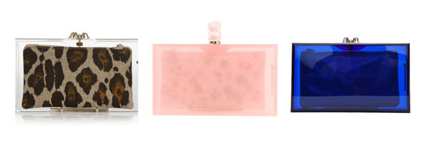 Transparent Clutch Charlotte Olympia