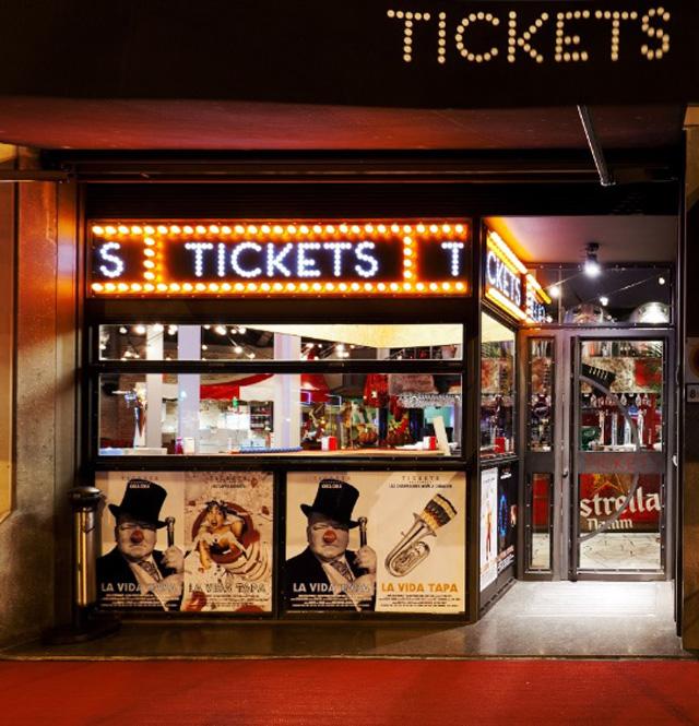 ticket restaurante barcelona entrada