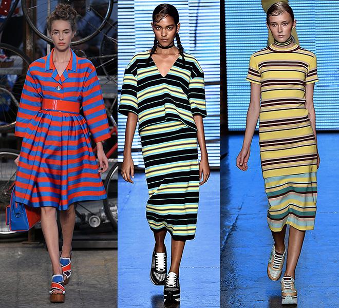 Las rayas de colores de Antonio Marras y DKNY s/s 2015