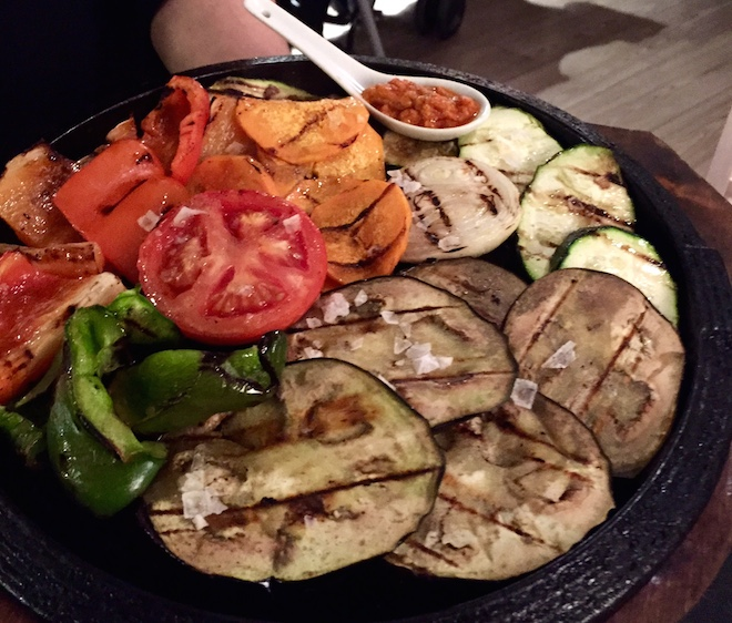 puerto madero parrillada verduras