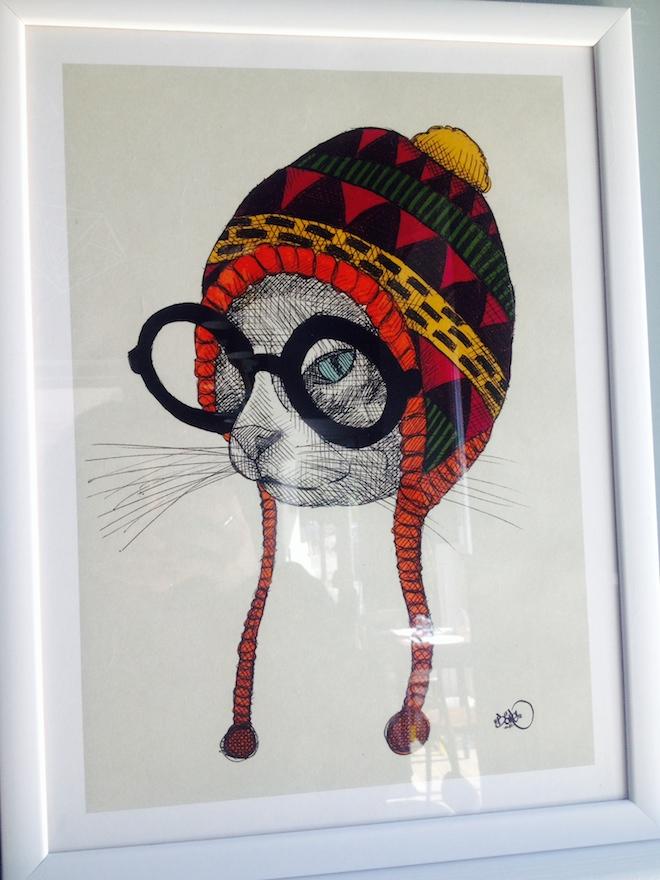 Romeow Cat Bistrot illustrazione gatti