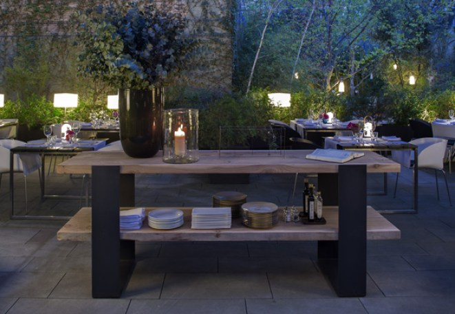 restaurante jardín terraza alma