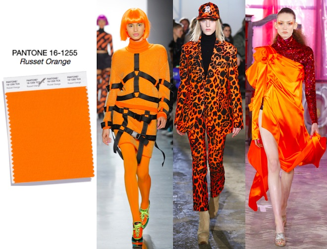 colores de moda otoño invierno 2018 Russet Orange