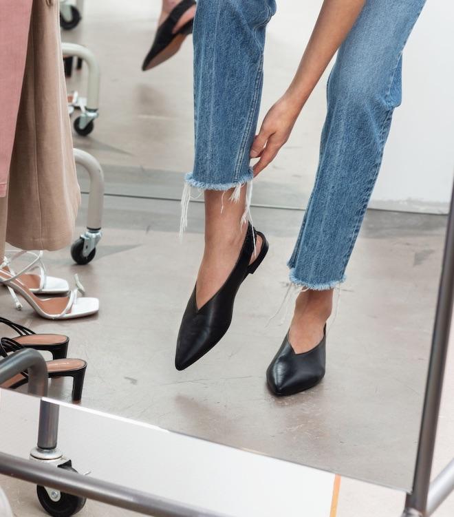 calzado moda zapato plano destalonado ss2019