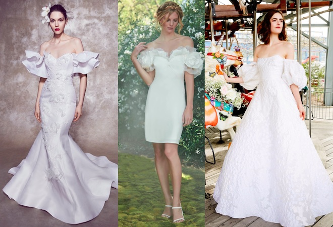 moda novia 2020 mangas
