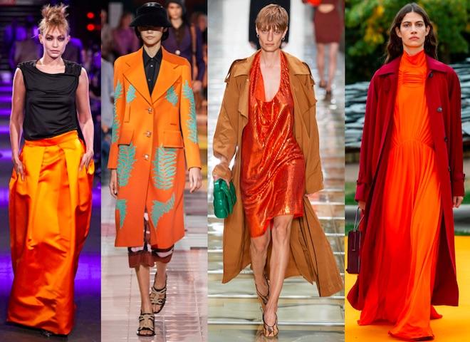 naranja color de moda pv2020