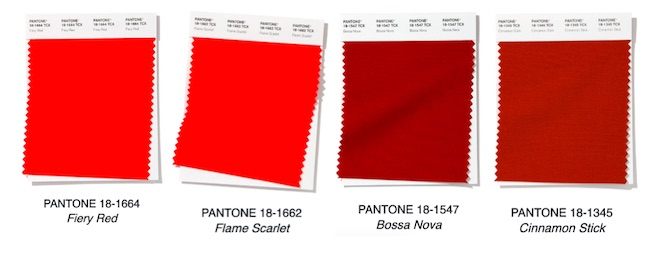 pantone rojo colores moda pv2020