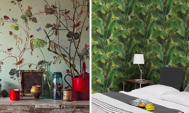 papel pintado botanico