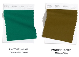 verdes colores de moda