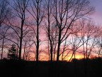 A sunrise from our back deck