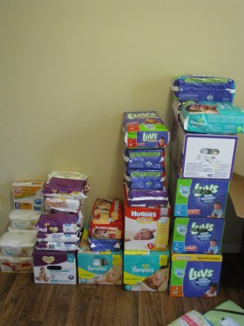 Lots of diapers and wipes!