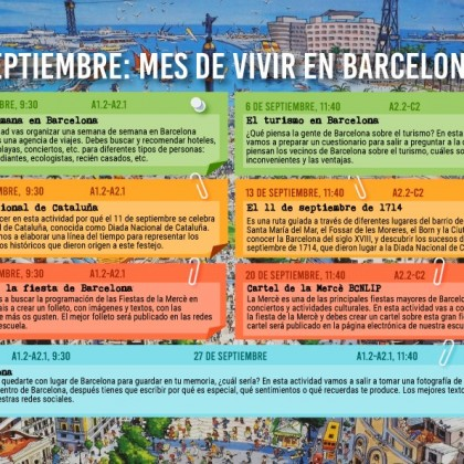 Month of living in Barcelona
