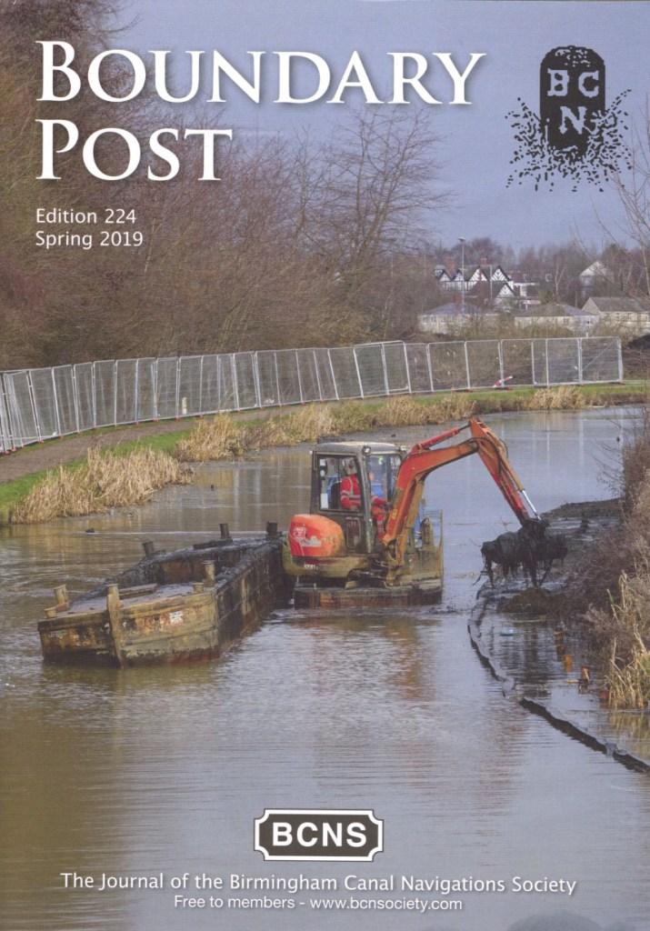 A sample cover page of Boundary Post, the regular printed BCNS journal