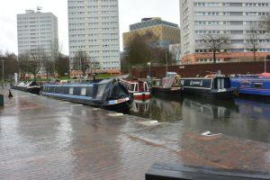 Safe moorings at Cambrian Wharf, Birmingham & Fazeley Canal
