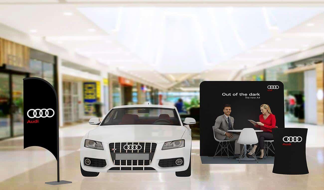 Audi brand activation that accelerates. bconceptgroup.com