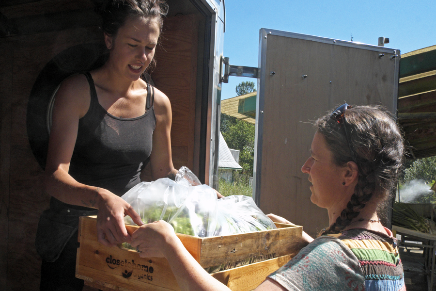 Coop members at Glen Valley Organic Farm