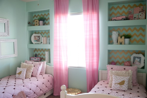 gold and pink girls bedroom ideas GOLD, PINK, AND VERY CHIC…Little Girls Bedroom Design » B