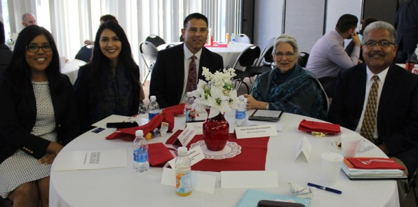 Gaby Castaneda (Office of Senator Andy Vidak), Nancy Solis-Vargas (Prospanica), Marco Vasquez (General Manager, Cintas), Nan Gomez-Heitzeberg (VPAA, Bakersfield College) Corny Rodriguez (Dean of Instruction, Bakersfield College)