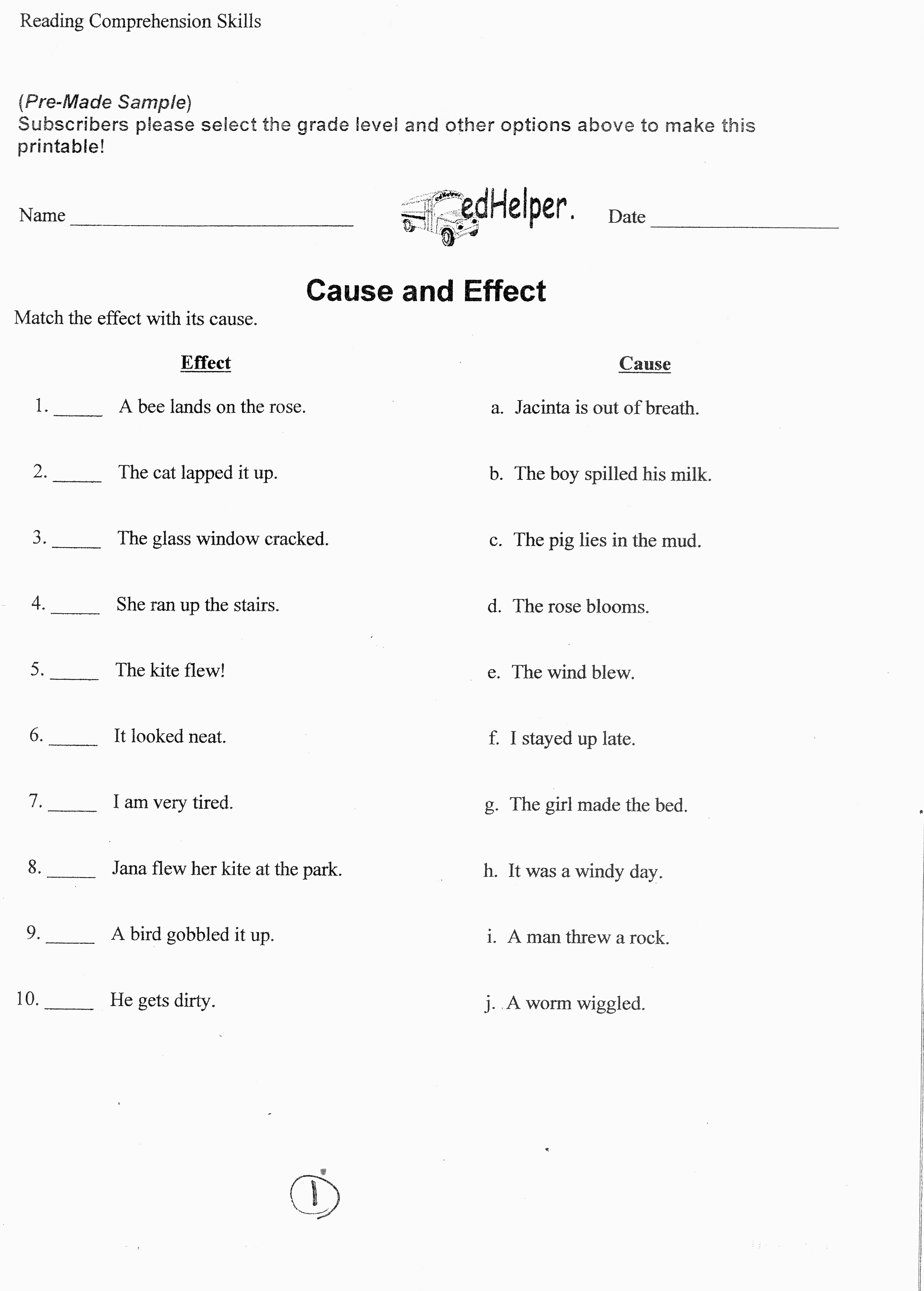Language Arts Practice Worksheets 6th Grade