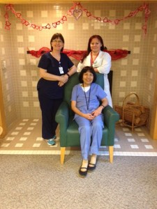 (left to right) Theresa McAusland, RCC, Emma Santos, RN, and Hana Minarikova, RCC (Coastal)